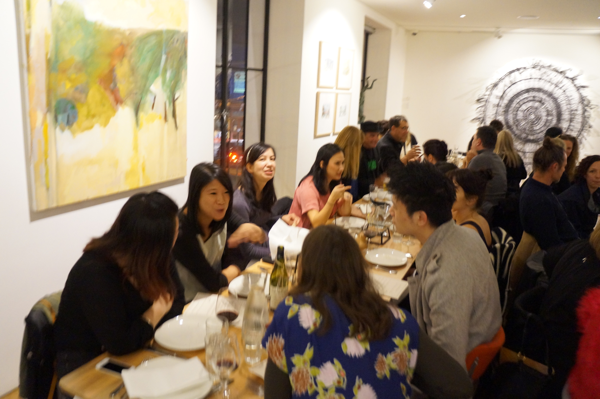 Artist dinner Reckless Romantics Sagra Art Gallery