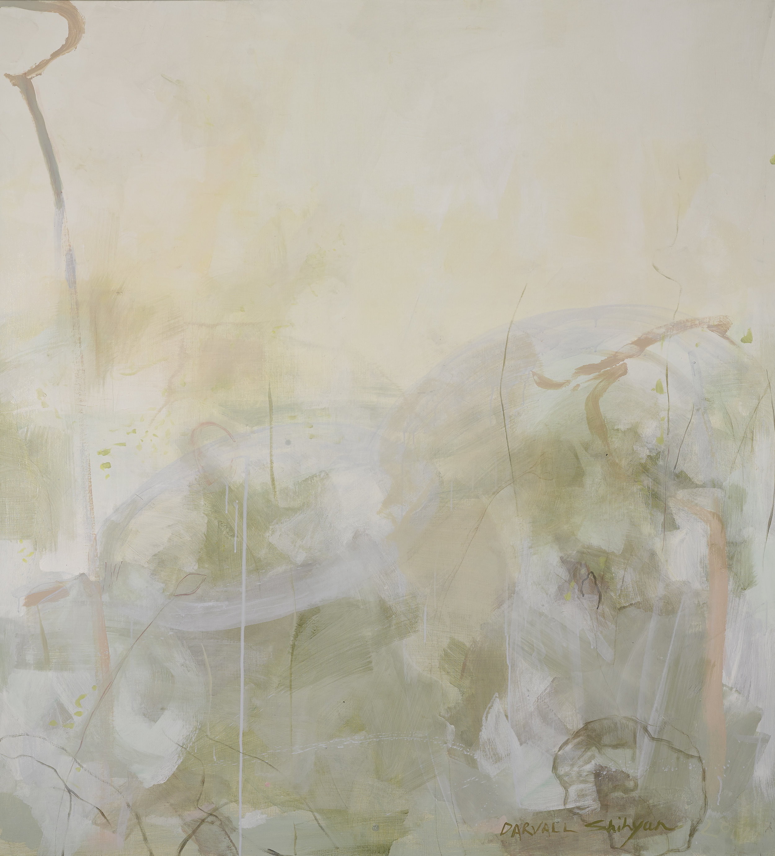 Lotus #1 Jo Darvall and Yeo Shih Yun 2017  155 x 171 cm pigment and acrylic on linen  enquiries contact Art Forum