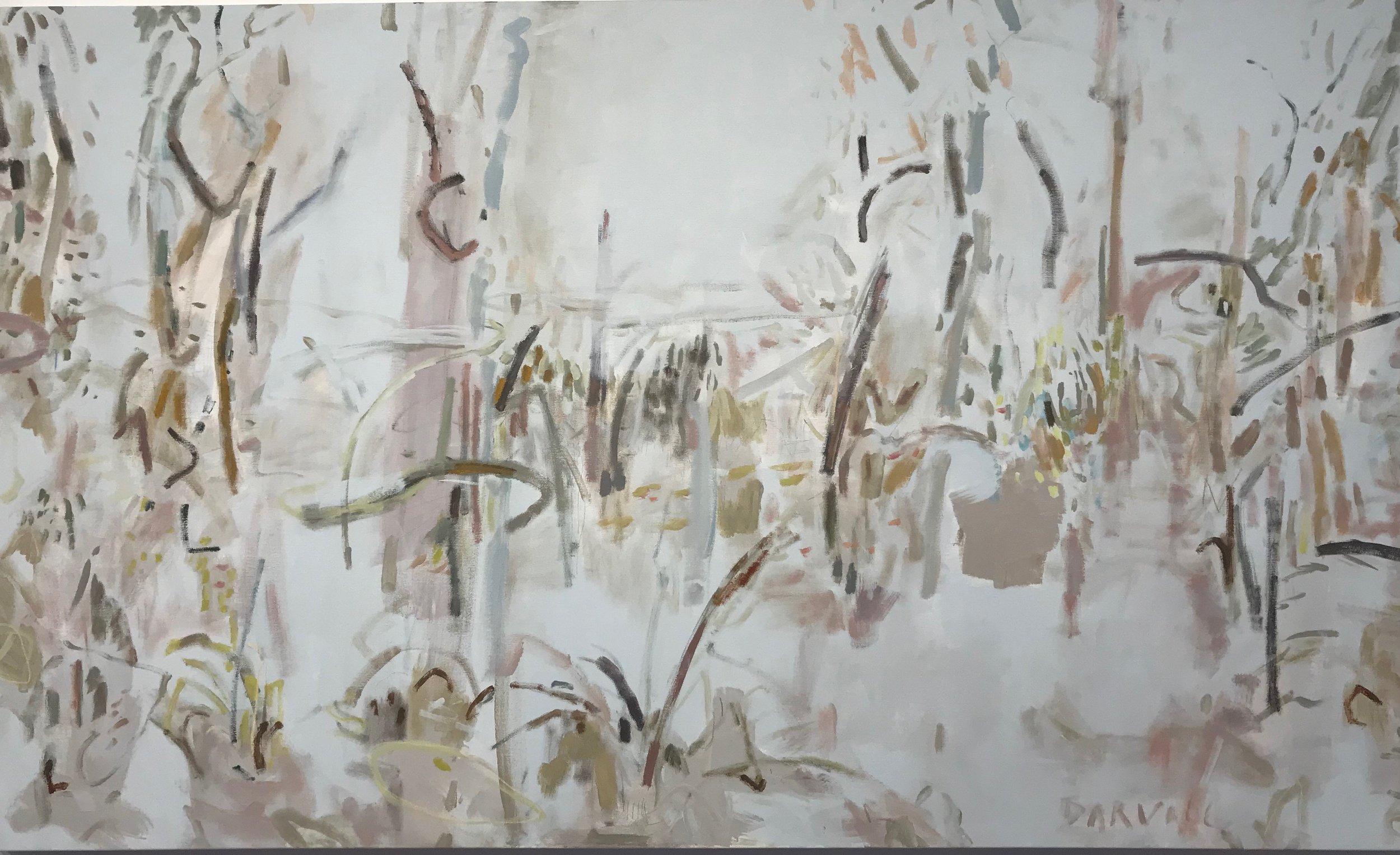 Moora Katta - Kings Park No 1 2019 Jo Darvall oil on canvas 118 x 195.5 cm contact  Rochfort Gallery