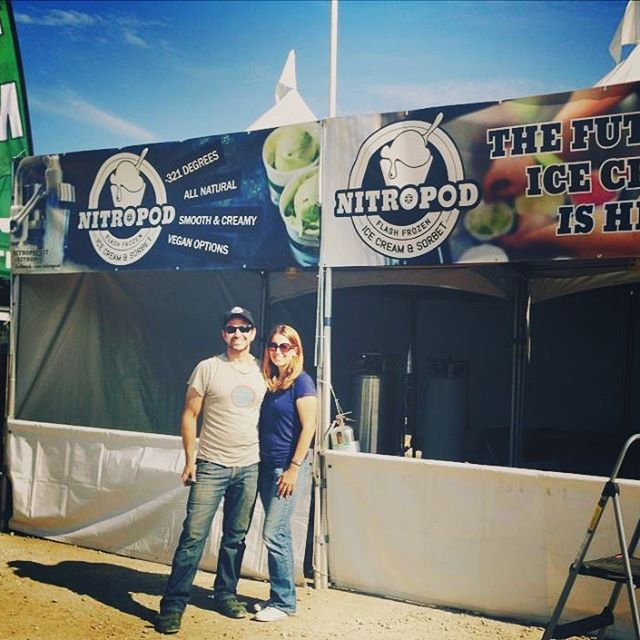 6 years ago we were just starting out and brought NITROPOD to #hardsummer in #LA. We learned some lessons. This crowd was looking for #water, #booze and #chickenstrips. Not #organic #liquidnitrogen #icecream 🤷🏼♂️