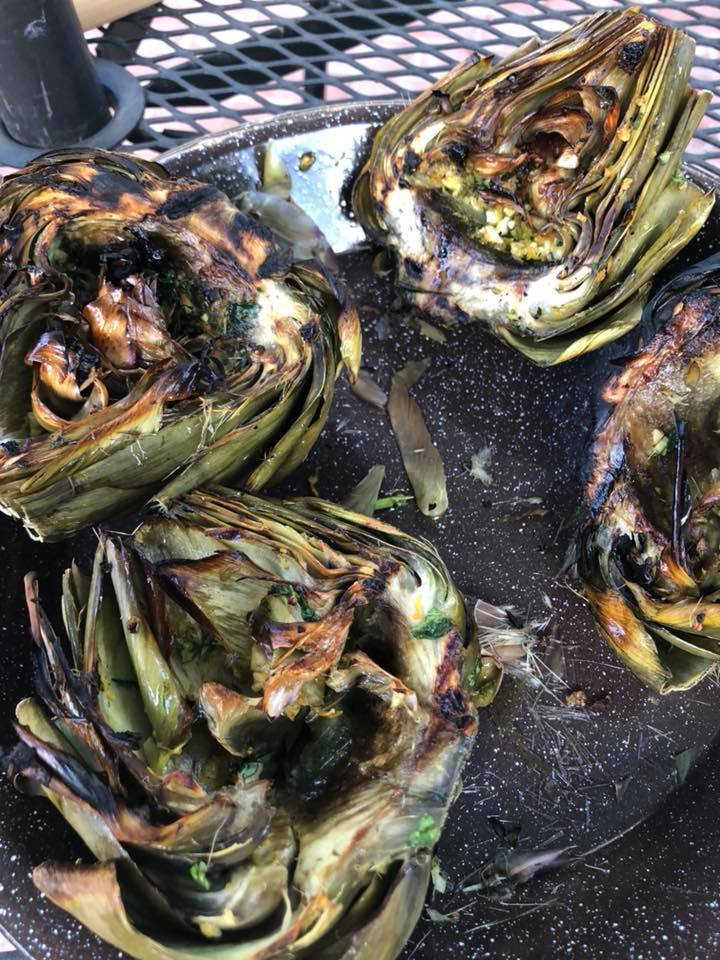 Grilled Artichokes - ....and Tri Tip!