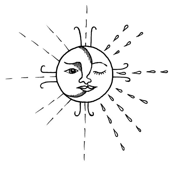 moon and sun face #themoonismycalendar