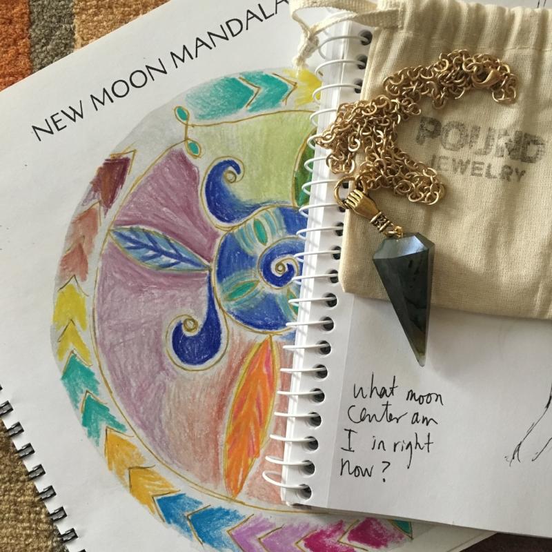 the moon is my calendar new moon mandala