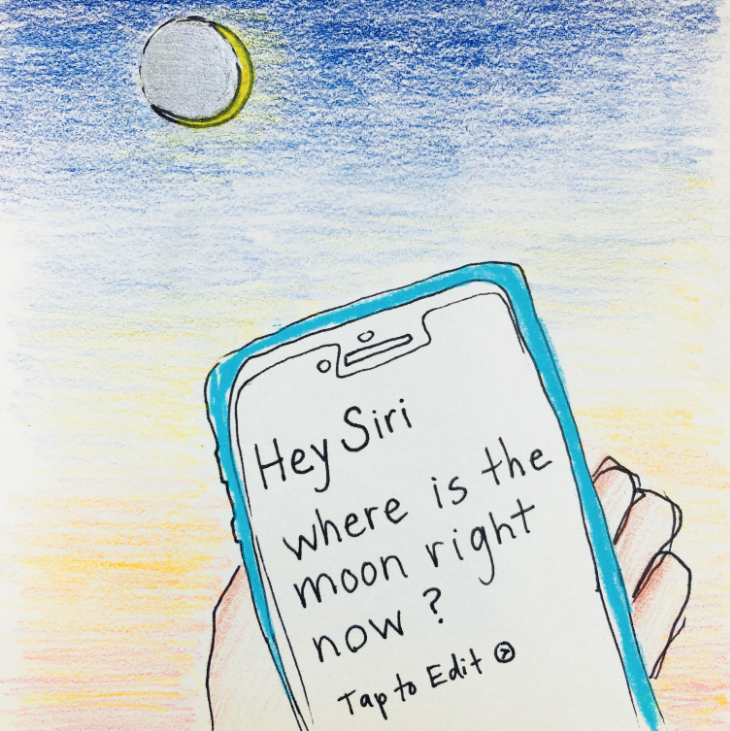 hey siri moon #themoonismycalendar