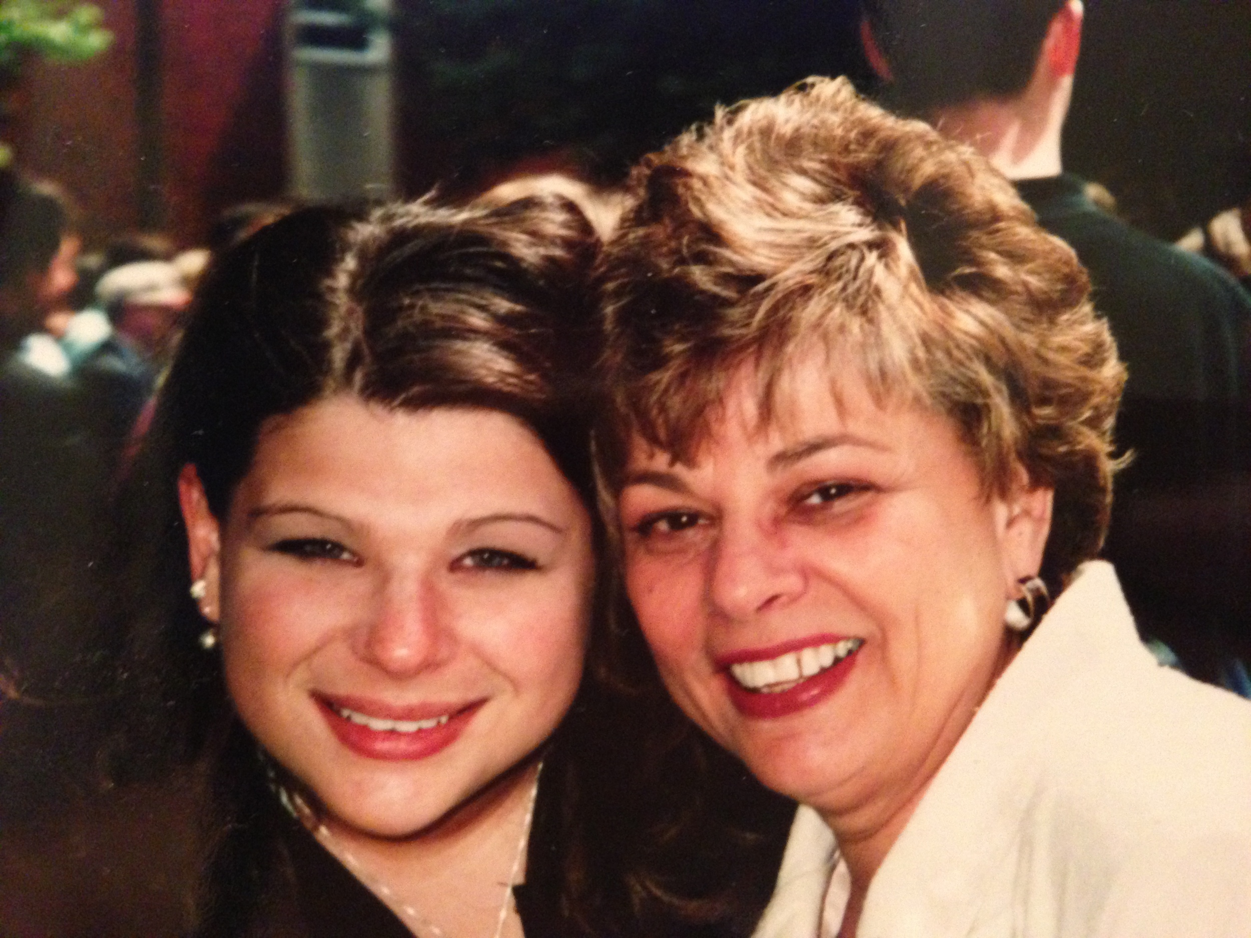 Emily with her mother, who passed away when she was 27.