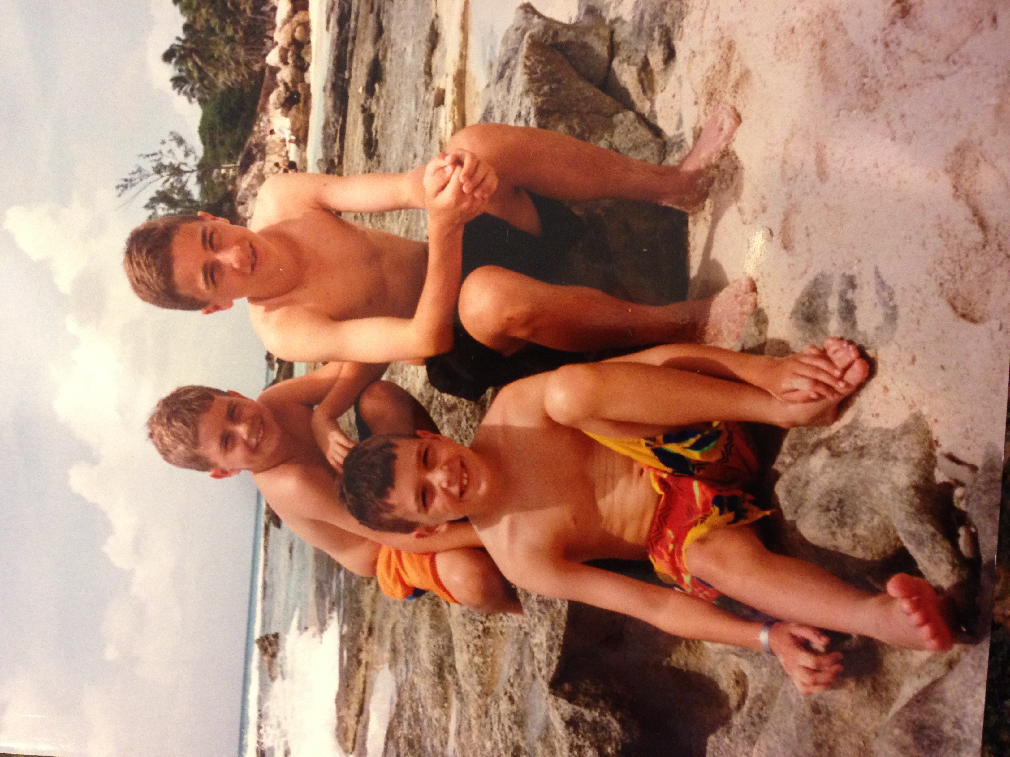 Darlene's three sons before they were grown men.