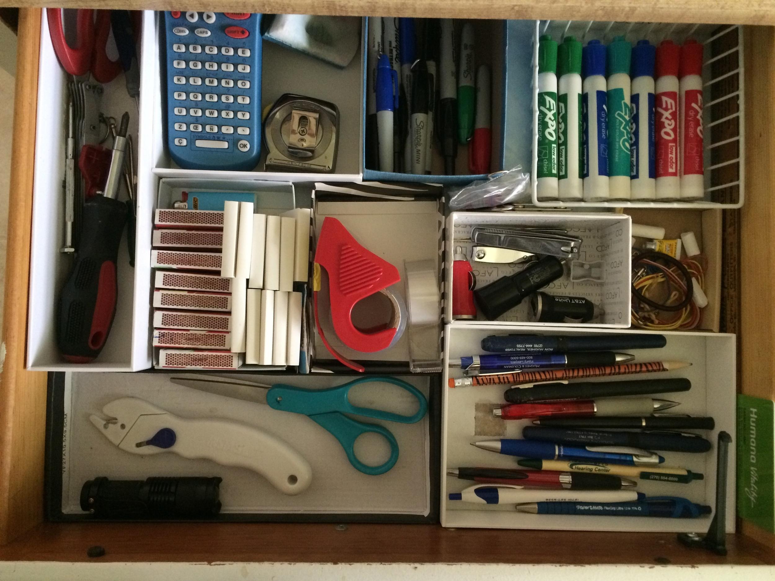 "My former ""junk"" drawer."