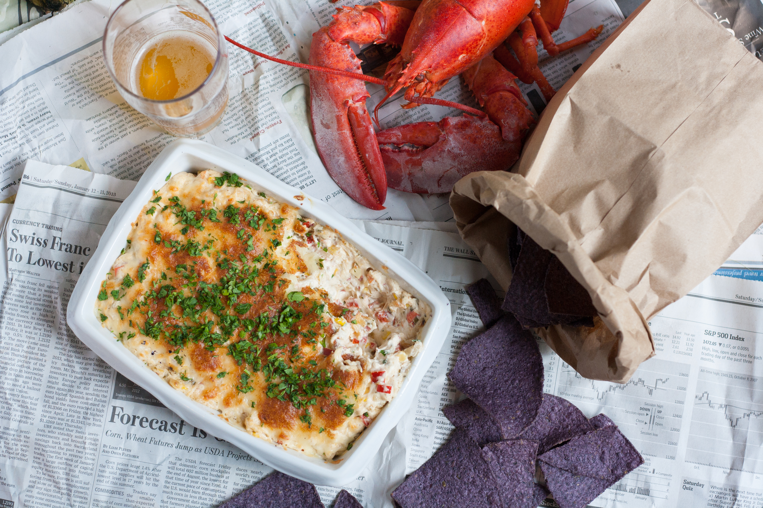 hot lobster corn dip