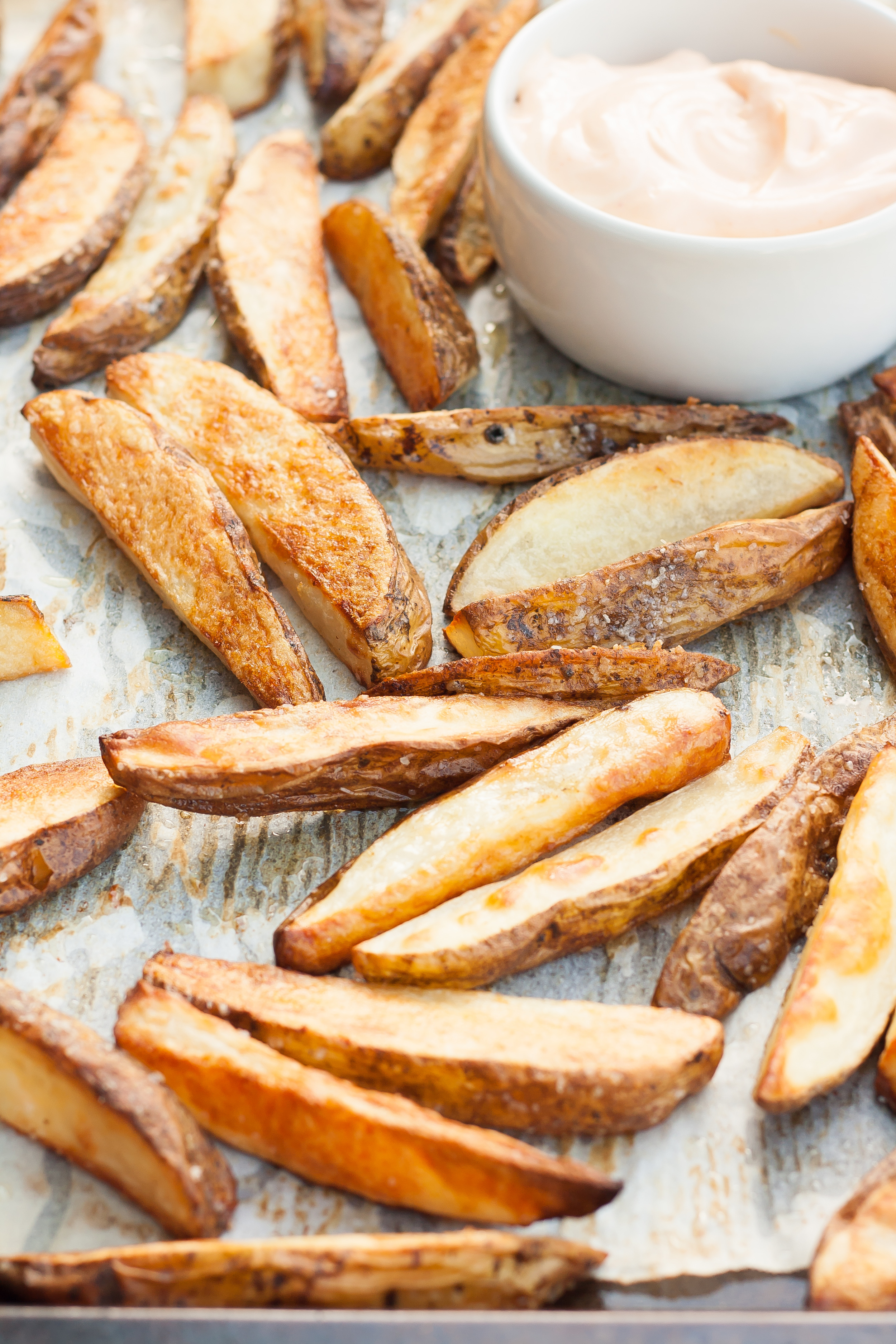 roasted potato wedges sriracha sesame mayo