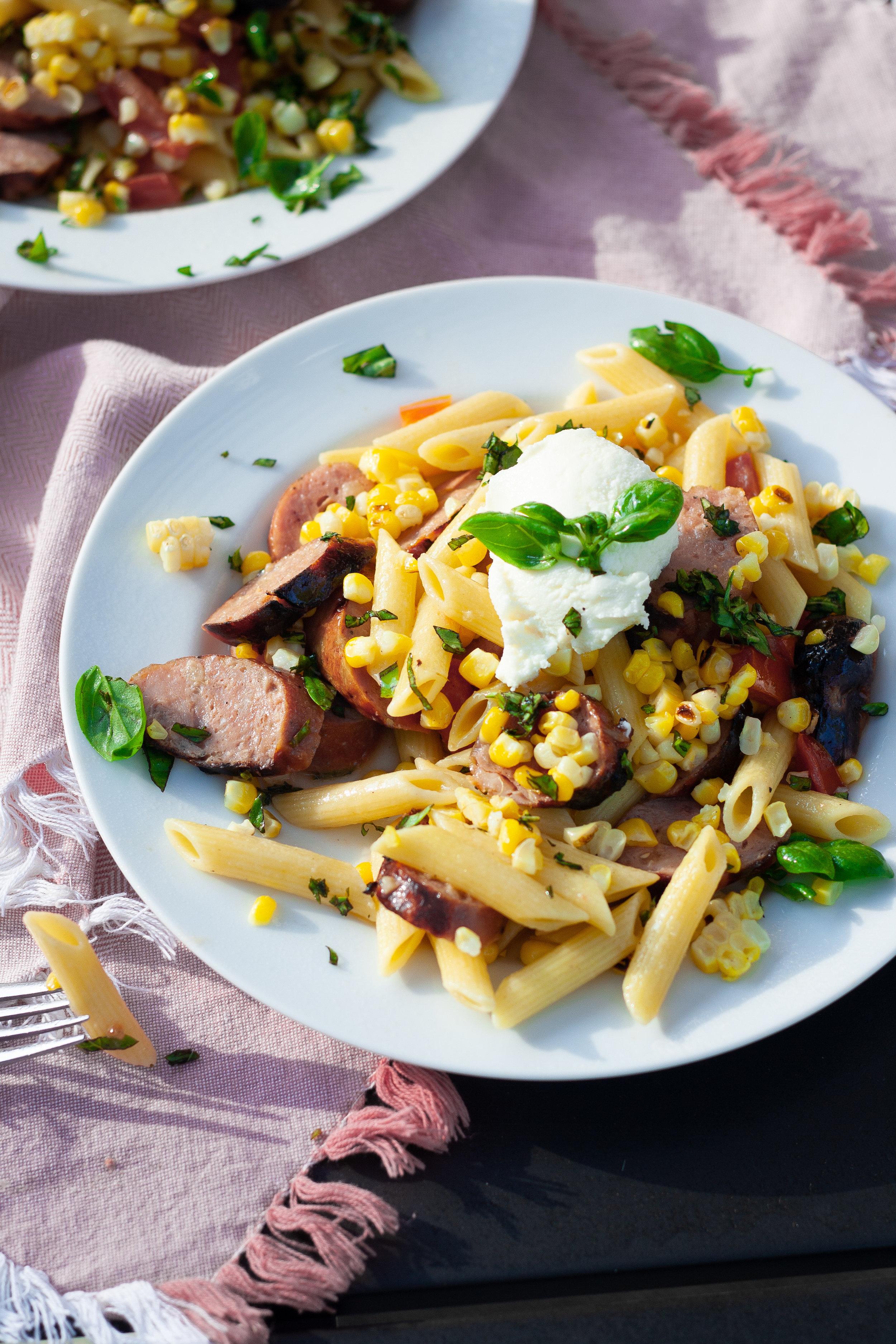 summer pasta ricotta basil