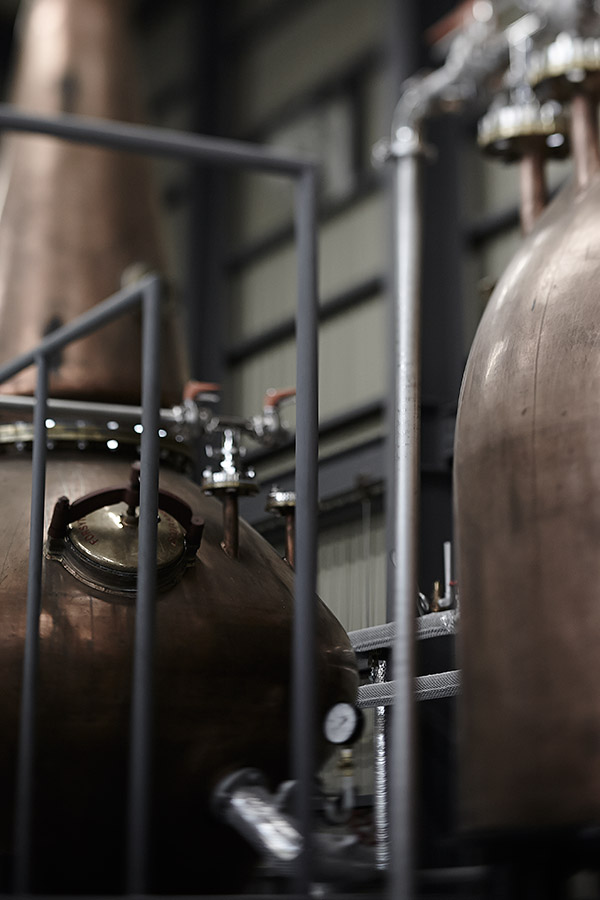 ラムでは珍しい銅の単式蒸留
