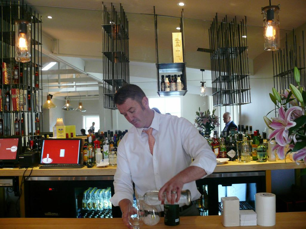 Salopian Inn co-owner Michael Armstrong in his gorgeous new gin bar designed by Peter Coombs for the McLaren Vale restaurant. Photo: Peter Coombs