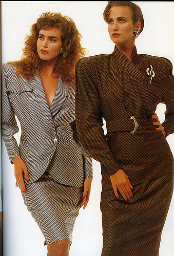 Covers fashion advertisement, Follow Me magazine, March 1987