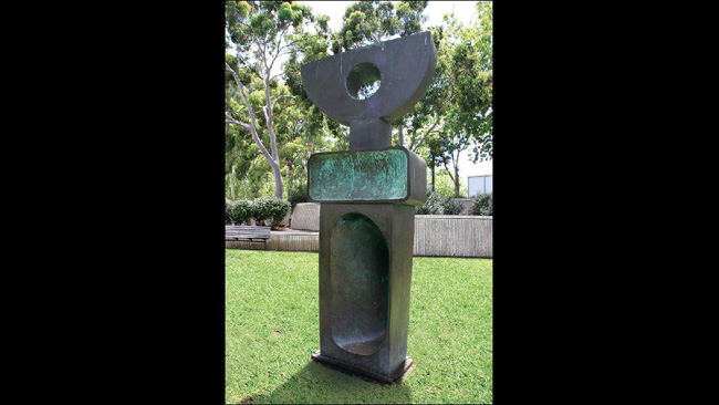 Barbara Hepworth's  Ultimate Form  outside the Festival Theatre. Picture:  The Australian