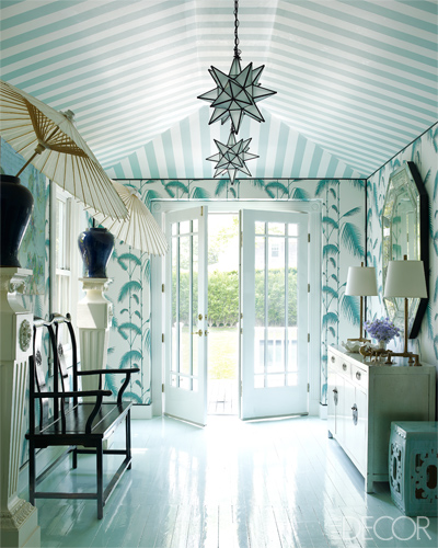 Making a first impression at the entrance. Picture: Elle Decor