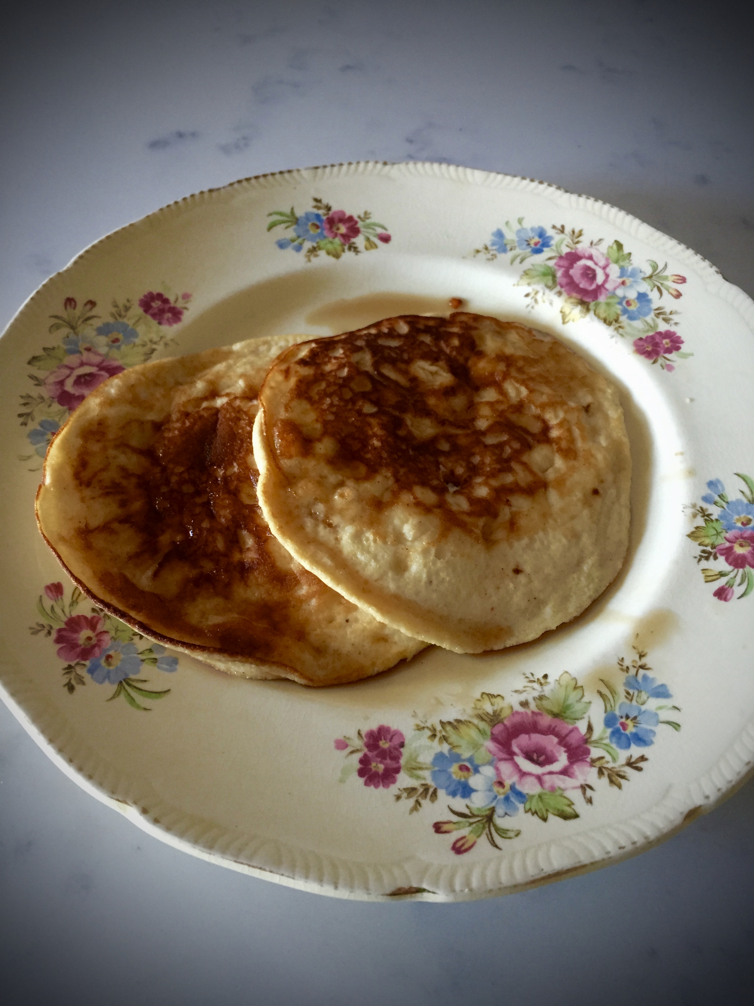 First attempt at flourless pancakes - will definitely try these again.