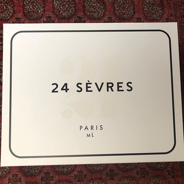 Loves gorgeous packaging. @24sevres knows how to deliver stylish surprises- swipe to second pic. #FromParisWithLove @christine.rady