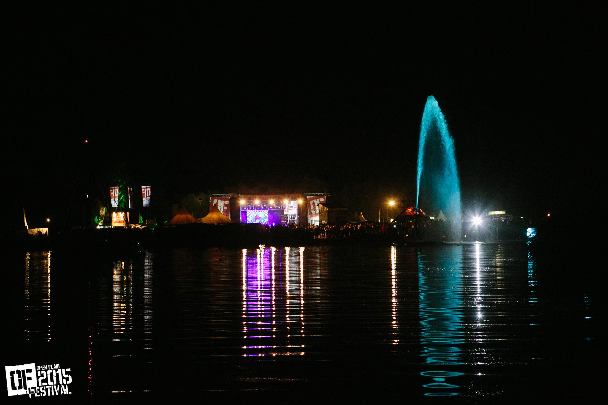 Seebühne bei Nacht