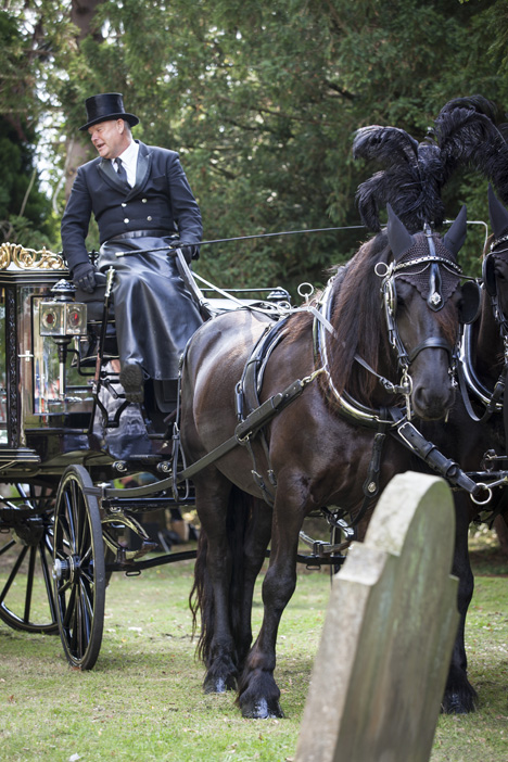 Horse Drawn Hearse at Rectory Lane Open Day (Photo:Andy Spain) CLICK FOR MORE INFORMATION
