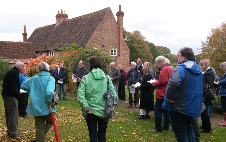 SPAB members learning about the important work being carried out at The Chiltern Open Air Museum