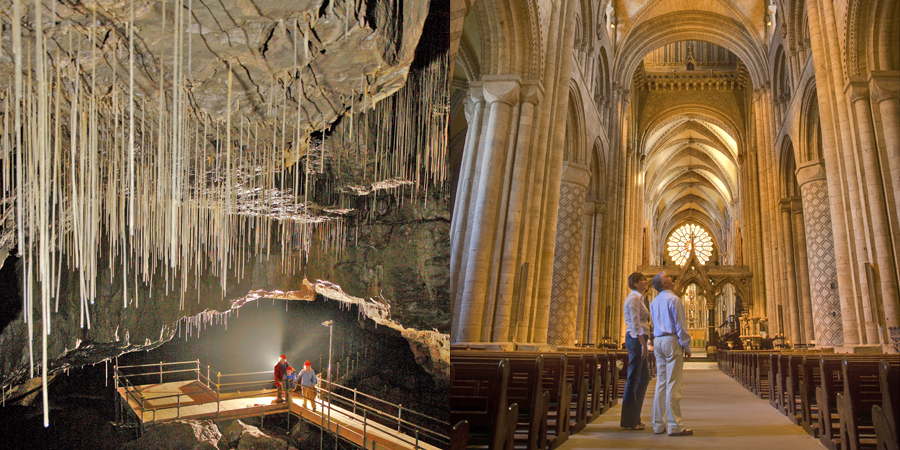 White Scar Caves, Yorkshire Dales National Park / Durham Cathedral