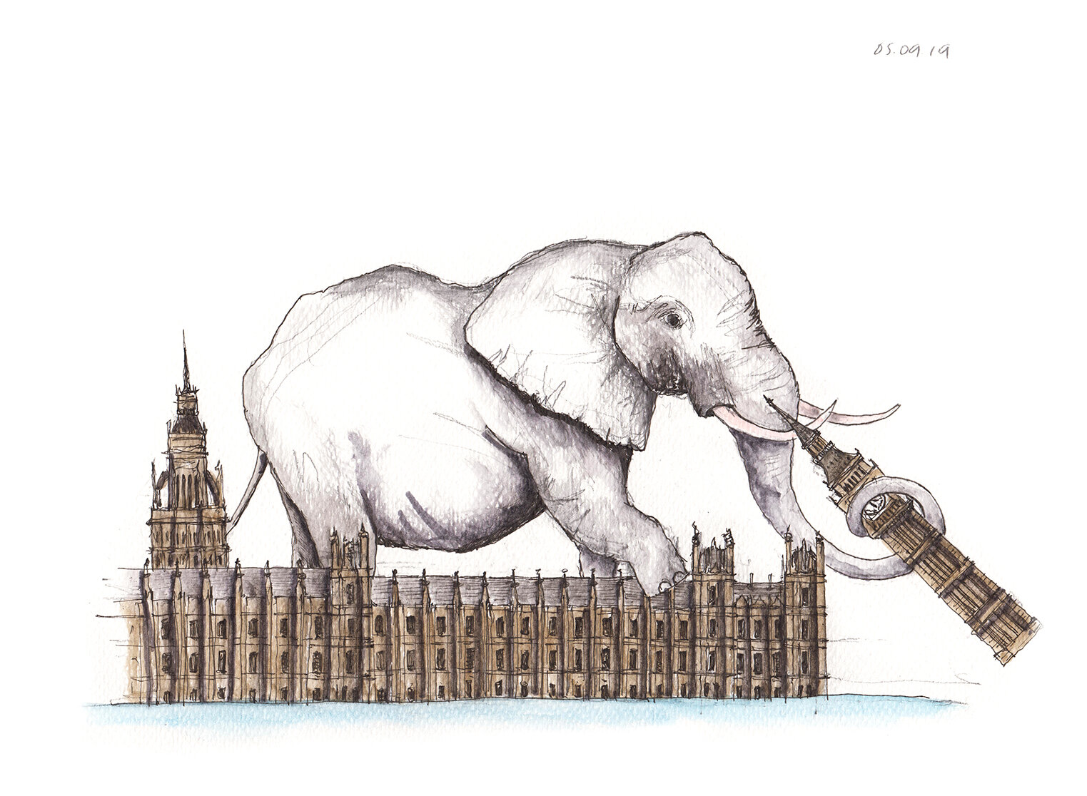 05.09.19 ... white elephant in westminster