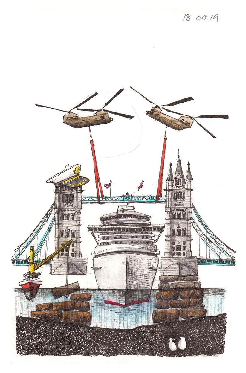 18.09.19 ... cruise ship meets tower bridge