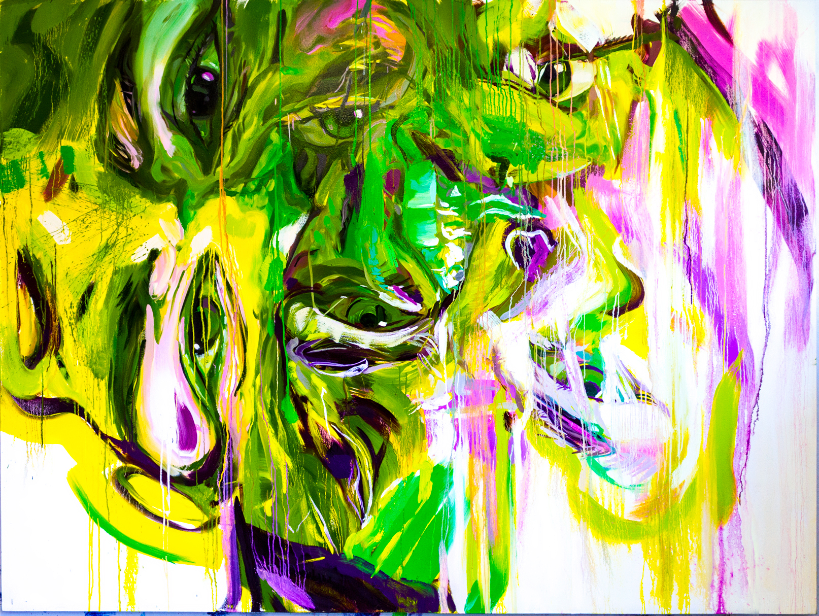 The Big Green One, oil on canvas, 2016