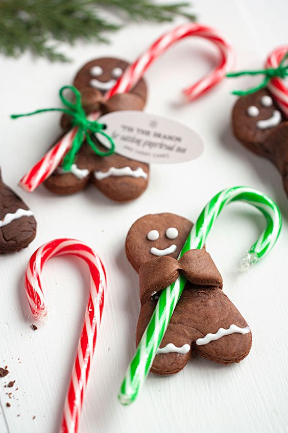 Chocolate Gingerbread Man holiday cookies