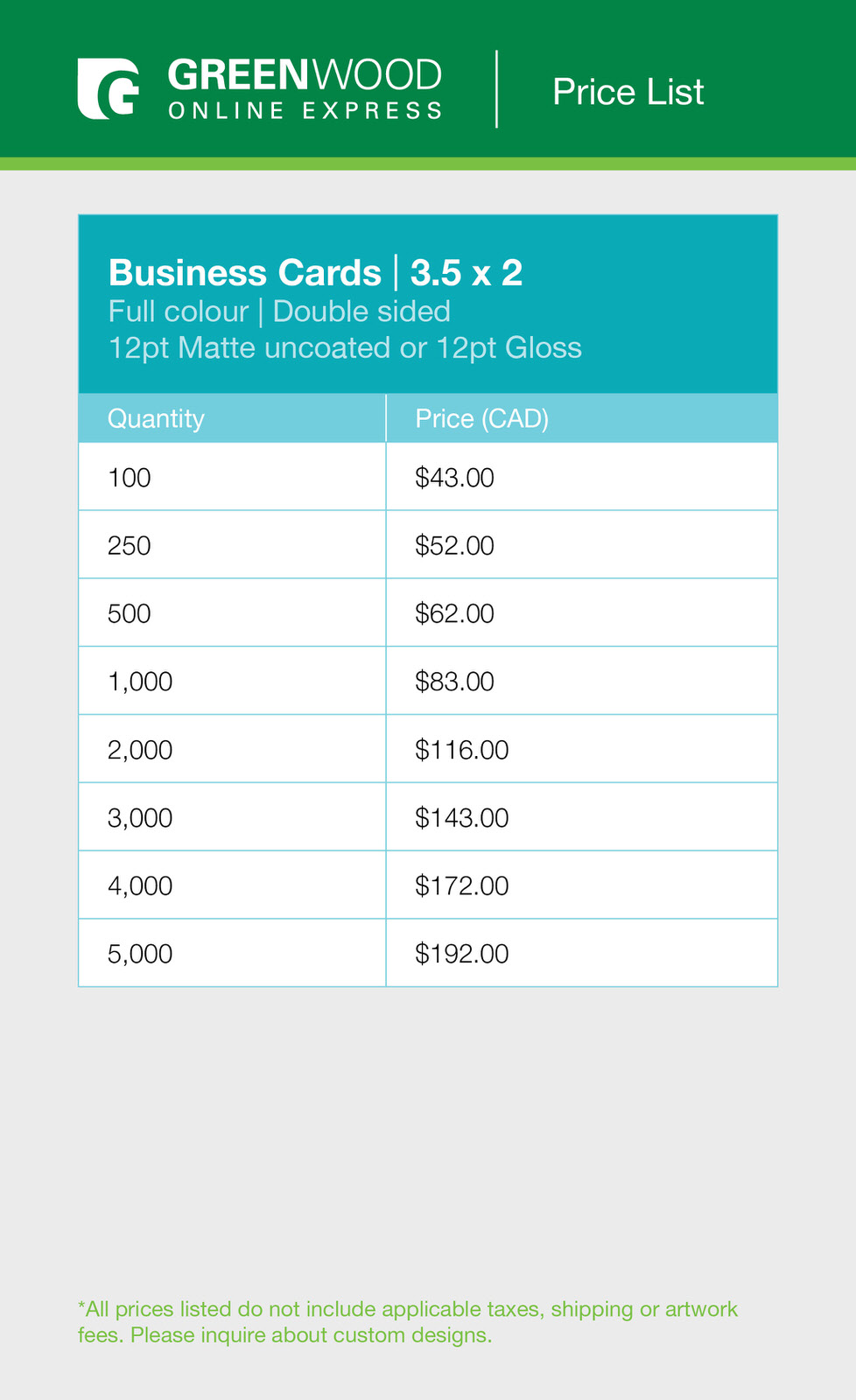 Greenwood business cards colour double sided price list.jpg