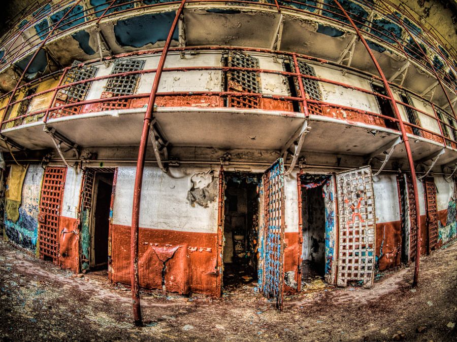 Prison after Topaz Clarity Filter is applied