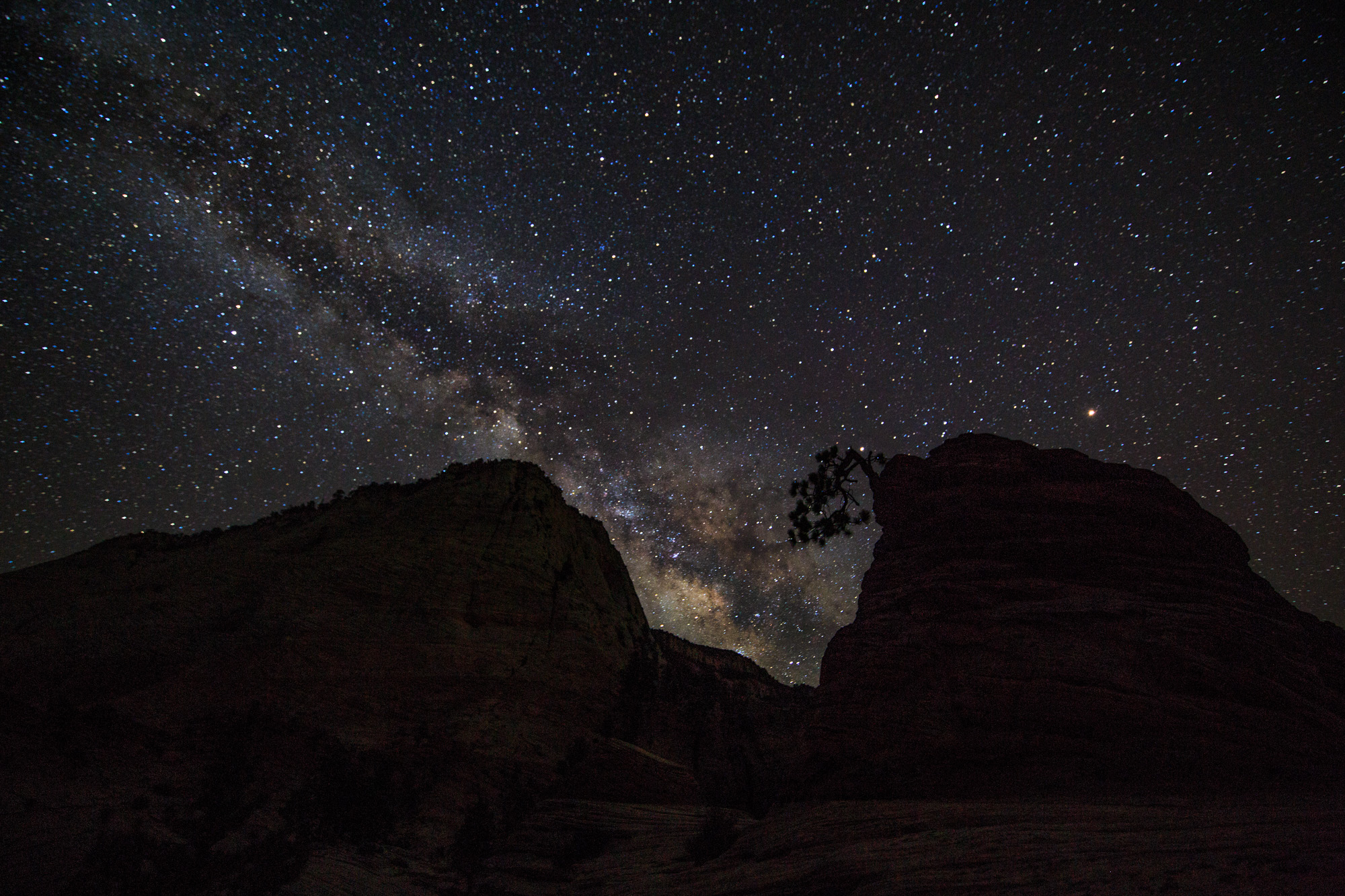 milky way zion national park