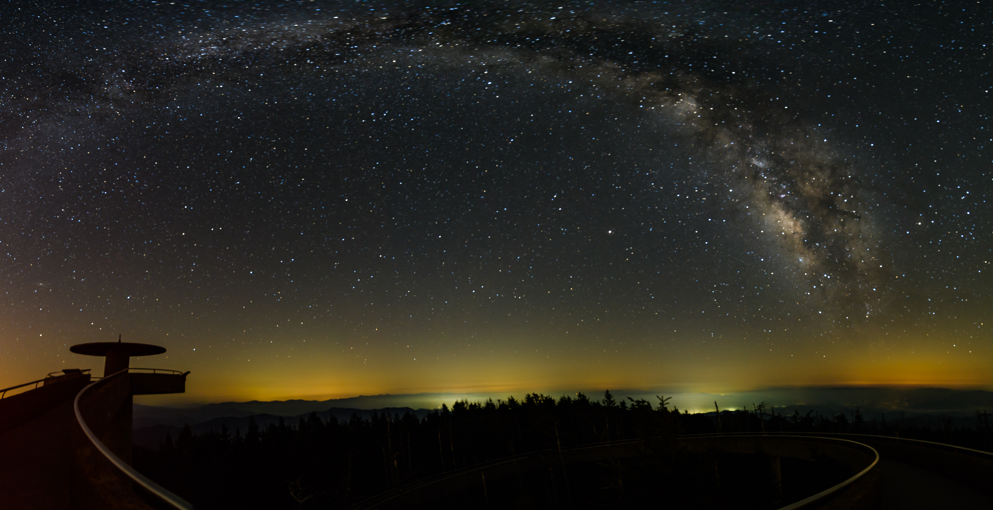 milky way pano clingmans dome