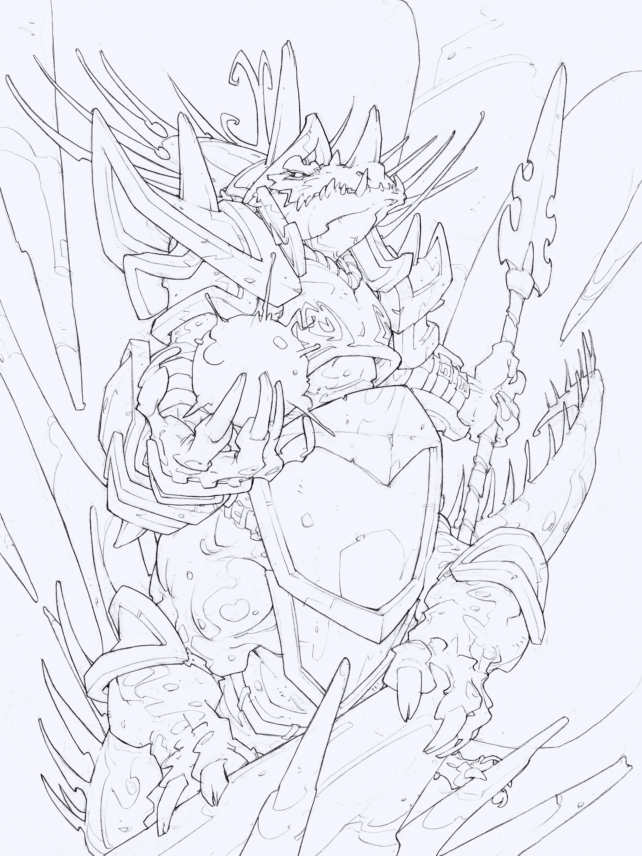 Blizzard Entertainment | Hearthstone - Dragonkin Sorcerer | Edouard Guiton