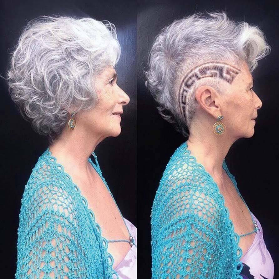 Silvia Henrique, de 69 anos: corte sidecut no Retrô Hair (Alexandre Takao/Divulgação)