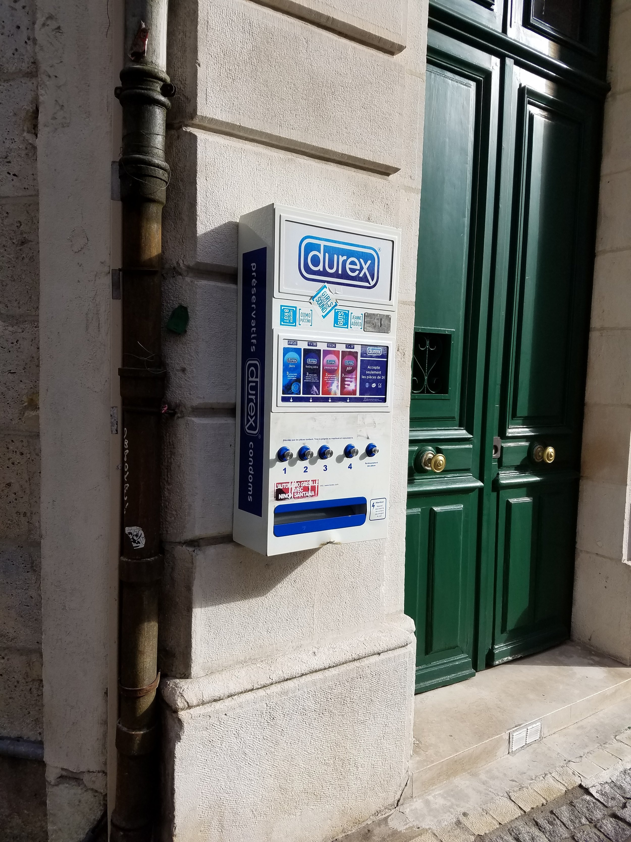 Condom vending machines on the street!