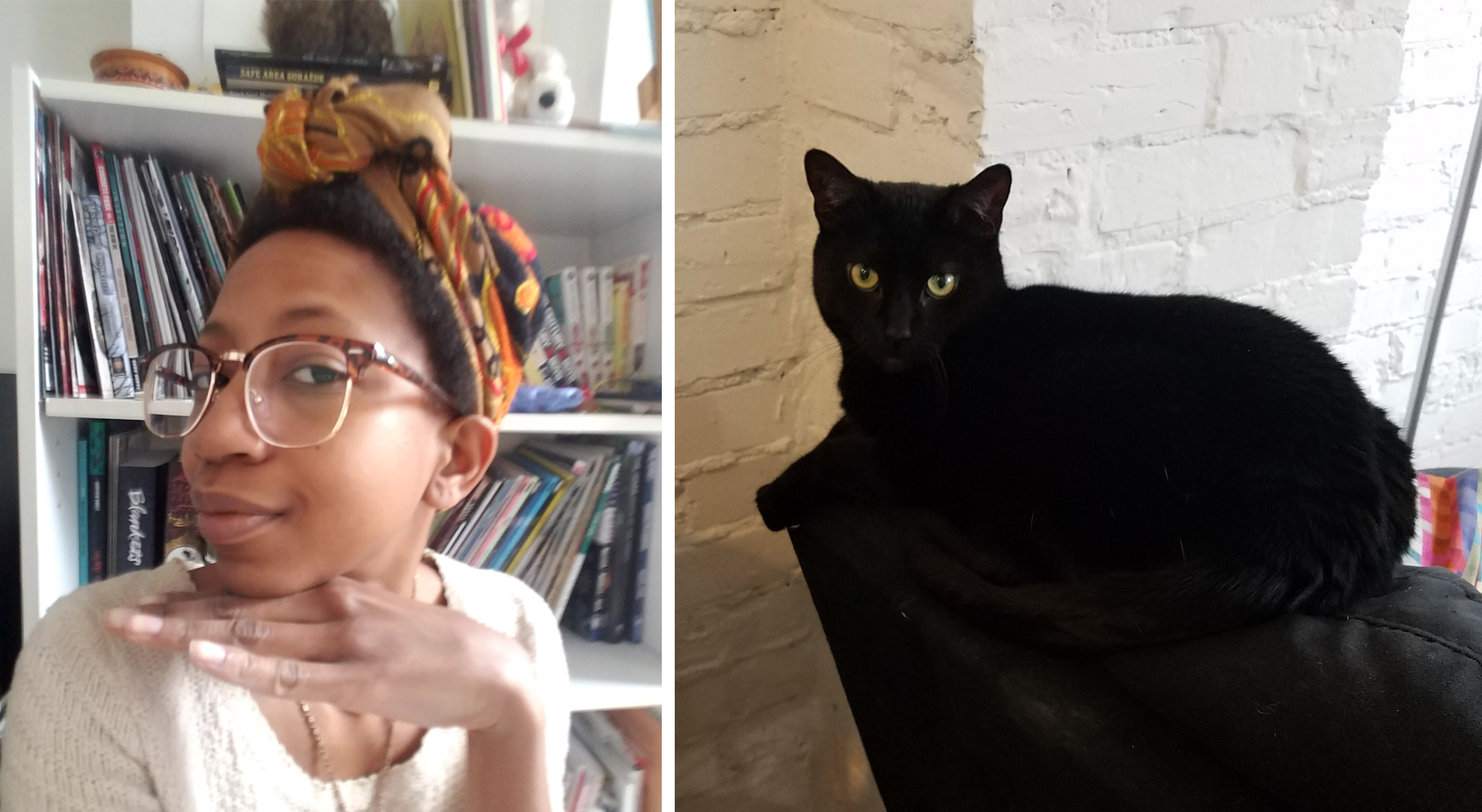 That one day I thought I looked cute VS how my cat felt about it. It's cool, Qat. You don't have to love me. I love me. Most days, anyway. So there.