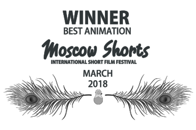 WINNER - BEST ANIMATION @ MOSCOW SHORTS - March 2018 - BLACK LAURELS (FEATHERS).png