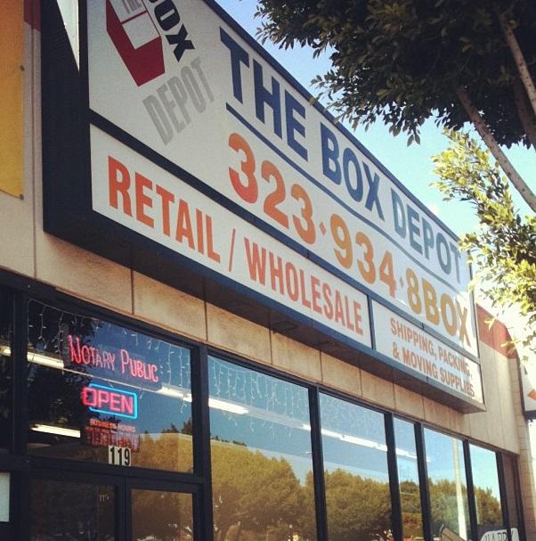 119 N. Fairfax Los Angeles, CA 90036 The Box Depot 2013