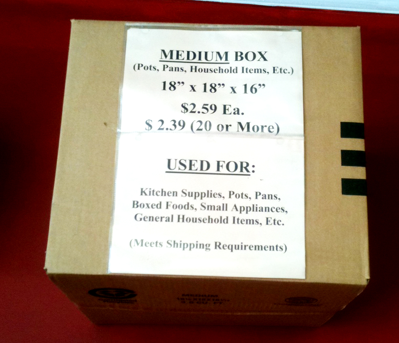 Medium Box -18x18x16