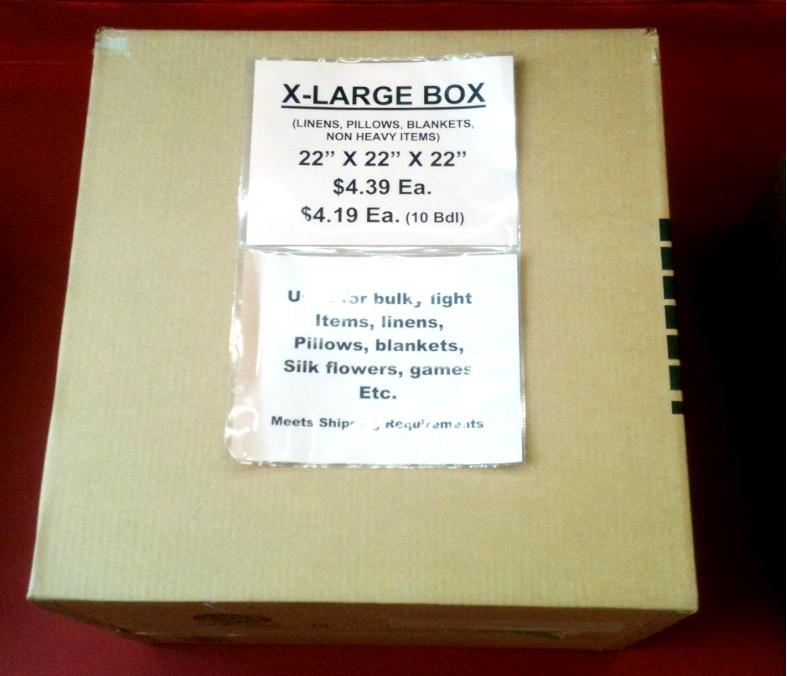Extra Large Box 22x22x22