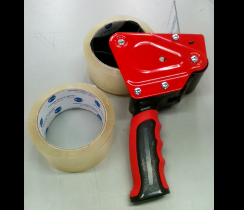 """Tape Dispenser w/ Two 2""""x55 Yrds Clear Tape"""