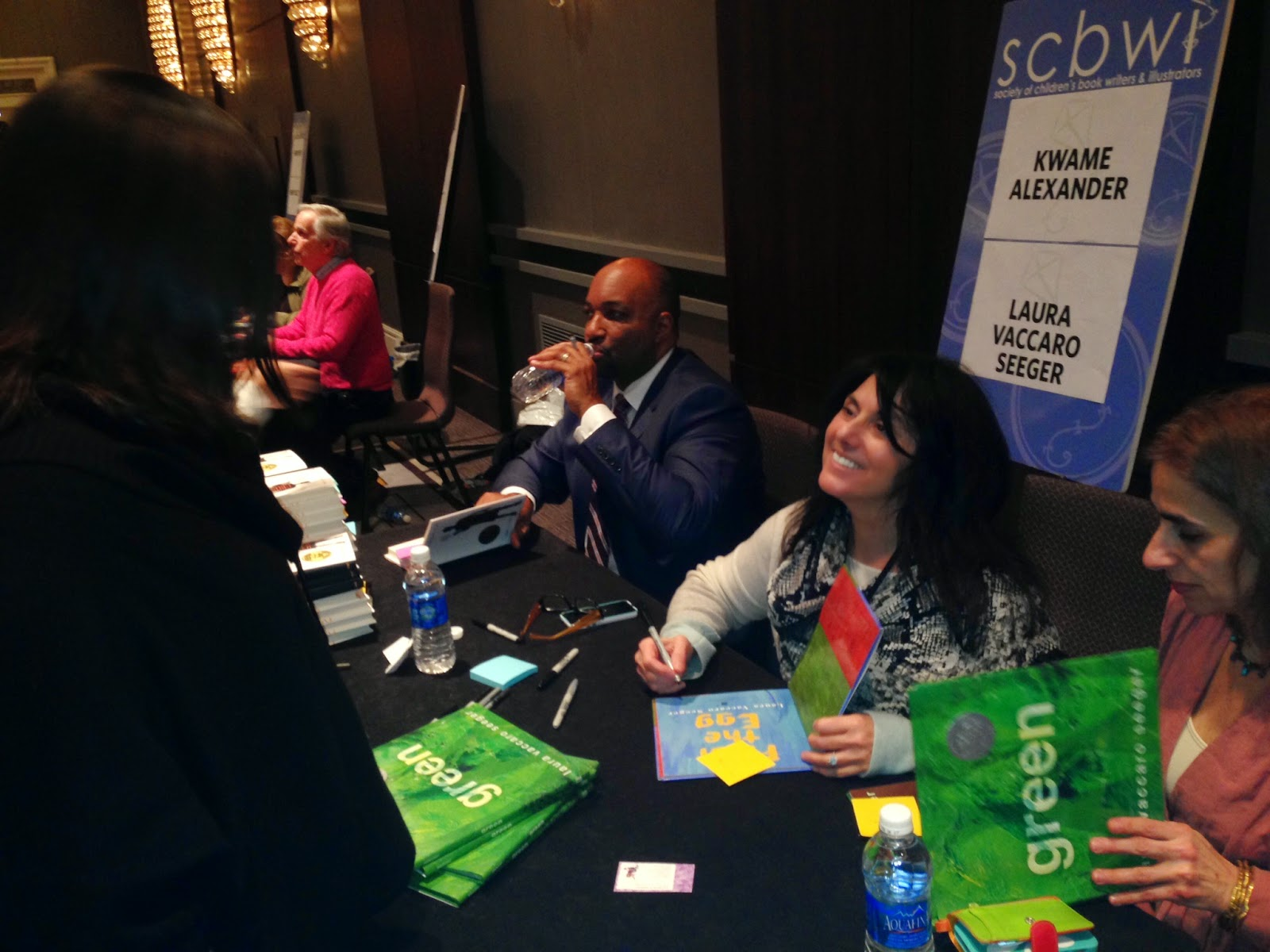 And here's another photo including Kwame Alexander (this year's Newbery winner), and The Fonz! And my best friend, Judes (far right).