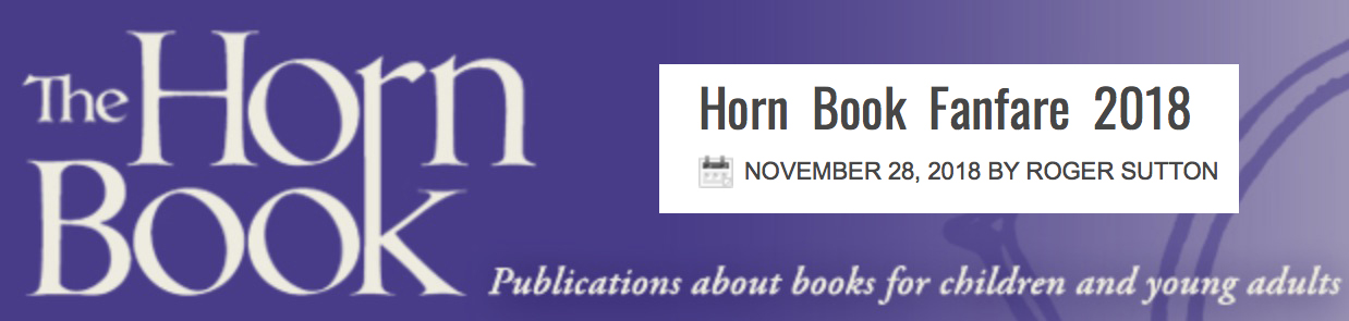 BLUE is a  Horn Book Fanfare  Best Book of 2018!