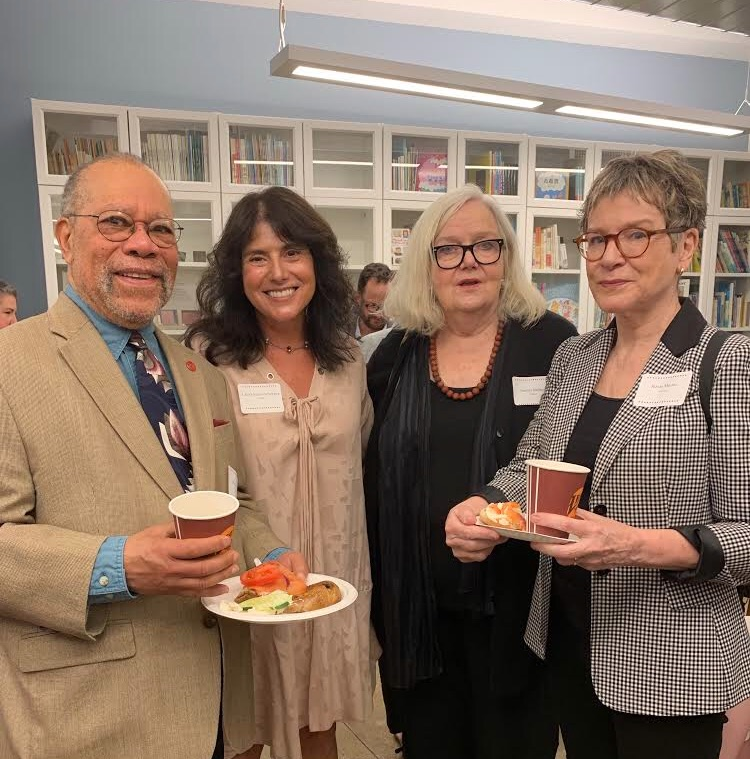 Pictured: Jerry Pinkney, me, Sandra Jordan, Roxie Monro