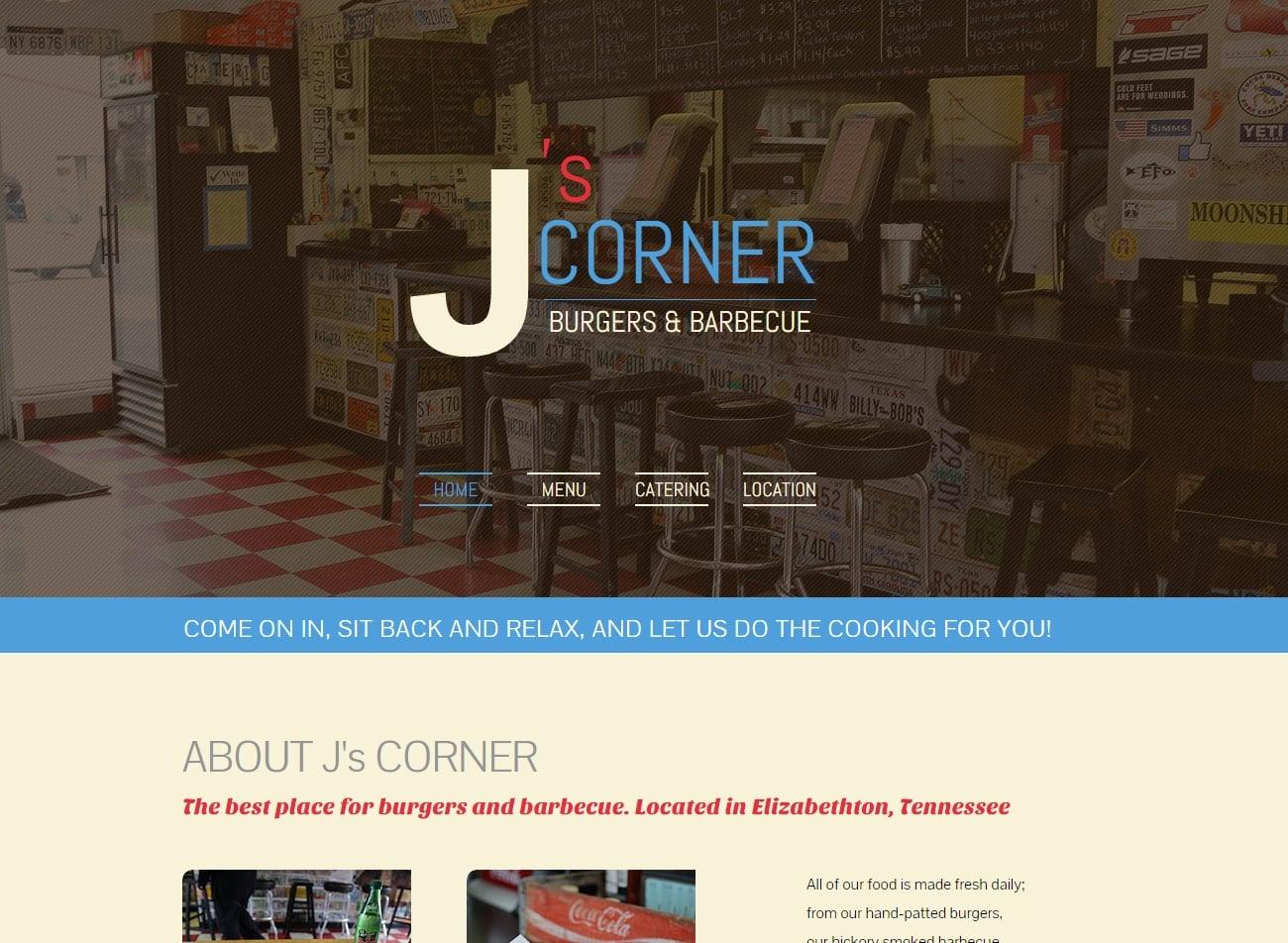 J's Corner Restaurant | Website