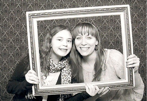 Madison and Laura having fun at IndieWed!