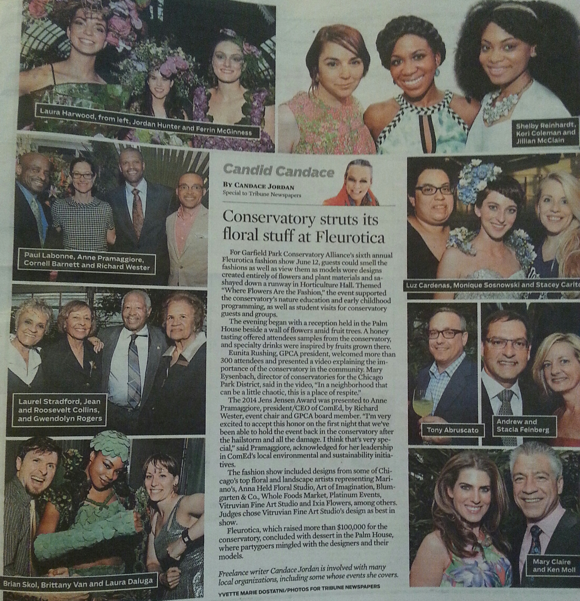 Candid Candace's Article for The Chicago Tribune. Coverage of Fleurotica2014