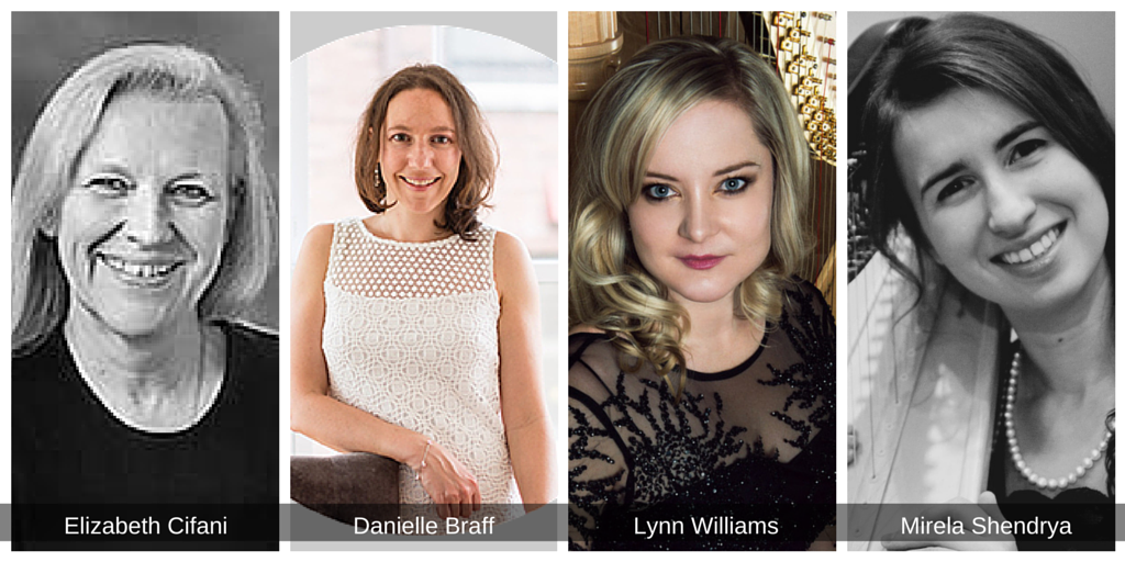 We are happy to announce four important new appointments to the Chicago Harp Quartet team. Mirela Shendrya has joined us as Office Manager to help keep the Quartet organized and functioning smoothly. We are thrilled to announce the first two members of the Chicago Harp Quartet Board of Directors: Elizabeth Cifani and Danielle Braff. Finally, Lynn has been appointed General Director of the Quartet.