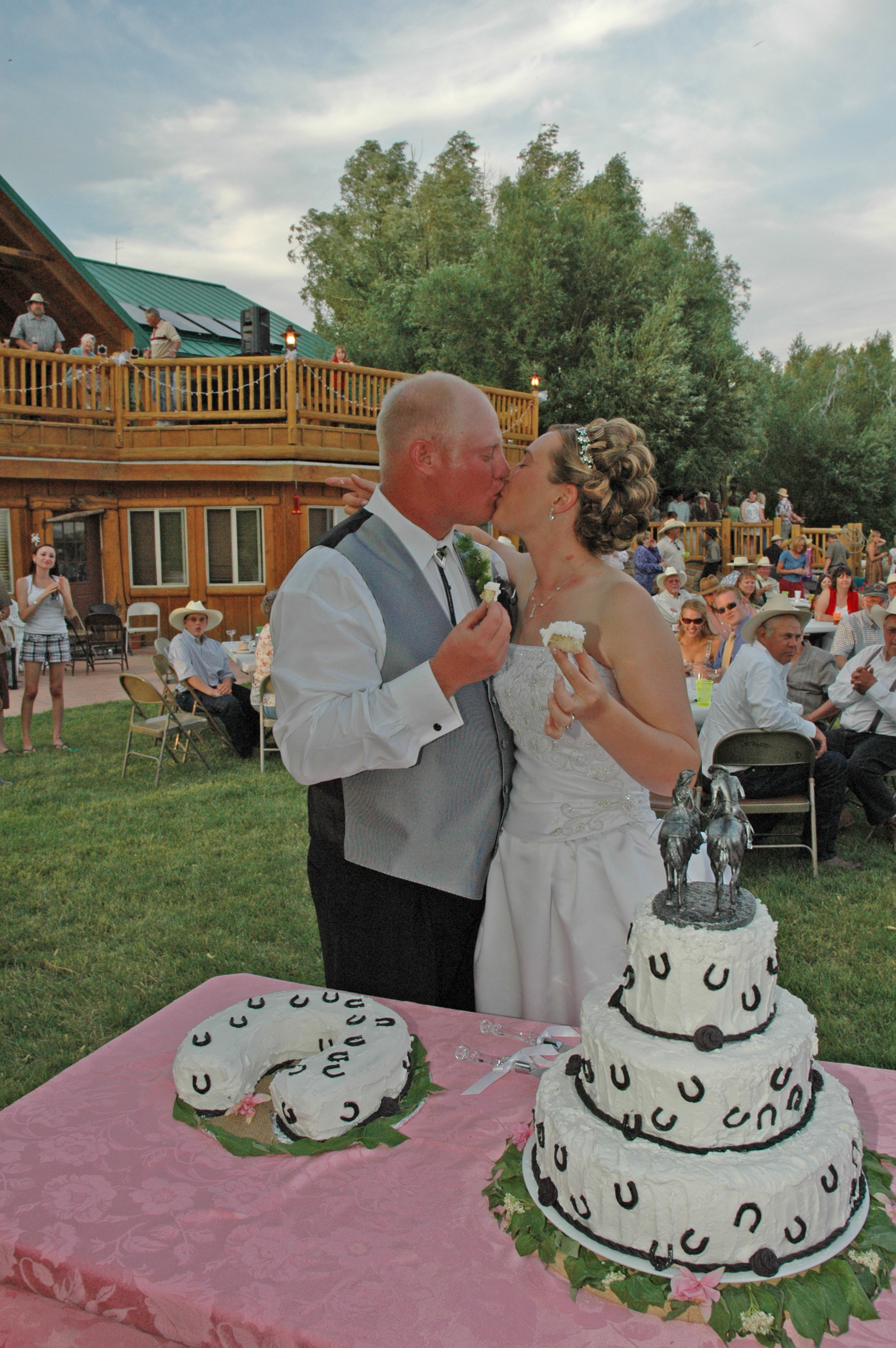 Country Horse Wedding Cake